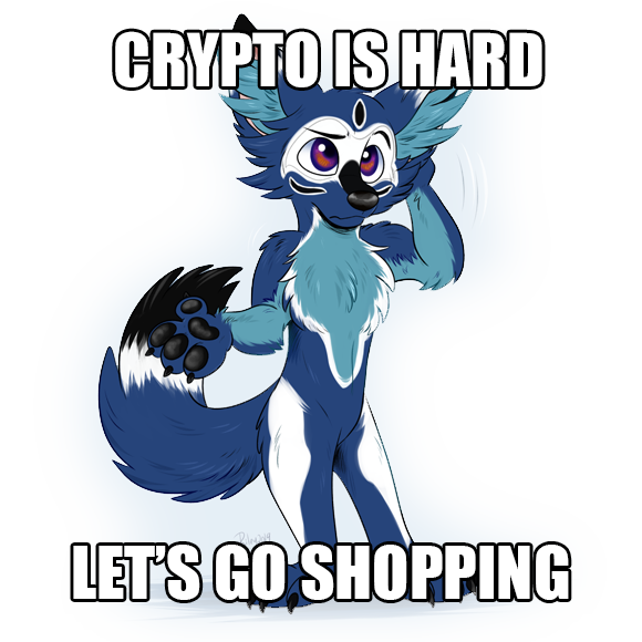 CRYPTO IS HARD / LET'S GO SHOPPING (in the spirit of the Barbie meme)