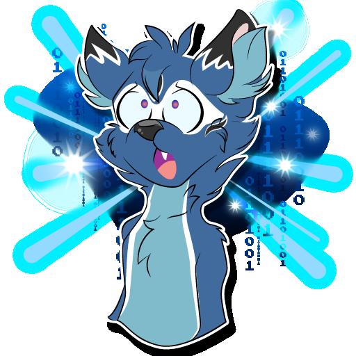 Galaxy Brain meme, but a furry